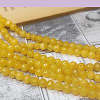 agata en tono amarillo en 4 mm, tira de 95 piedras aprox