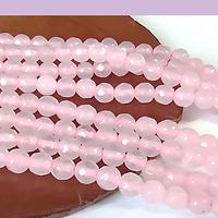 agatas en tono rosado en 4 mm, tira de 95 piedras aprox
