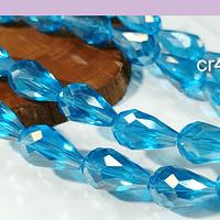 Cristal en forma de gota, color blanco calipso, 15mm por 12 mm, 10 cristales