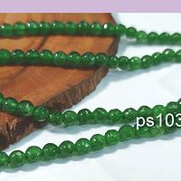 agatas en tono verde en 4 mm, tira de 90 piedras aprox