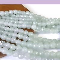 agatas en tono jade claro en 4 mm, tira de 85 piedras aprox