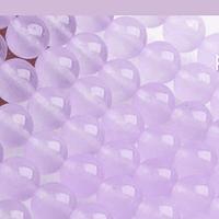 Agata lisa en tonos lila clara, 6 mm, tira de 60 piedras aprox.