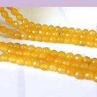agatas en tono amarillo en 4 mm, tira de 85 piedras aprox