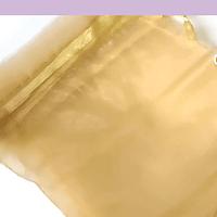 Bolsa organza color amarillo dorado de 12 x 14 set de 10 unidades