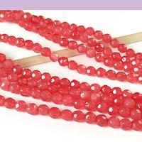 agatas en tono rojo en 4 mm, tira de 85 piedras aprox