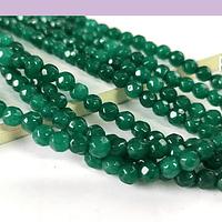 agatas en tono verde en 4 mm, tira de 85 piedras aprox