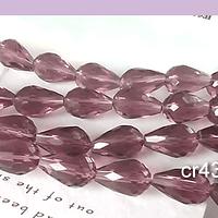 Cristal gota ciruela, 12 mm de largo por 8 mm de ancho, set de 10 unidades aprox