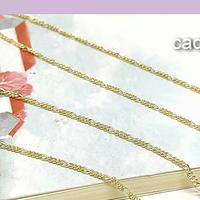 Collar baño de oro, eslabón de 1,5 mm, 47 cm de largo, por unidad