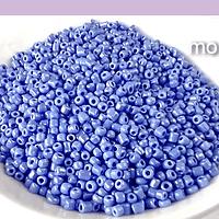 Mostacilla celeste baby blue de 2.1 mm (11/0), set de 50 grs