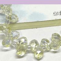 Cristal gota amarillo claro facetado primera calidad, 9x 6 mm, set de 12 cristales