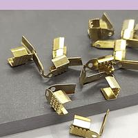 Terminal dorado 4 mm de ancho y 10 mmm de largo set de 24 unidades