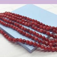agatas en tono rosa y burdeo en 4 mm, tira de 85 piedras aprox