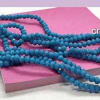 Cristal facetado azul piedra de 3 mm x 2 mm, tira de 148 cristales aprox.
