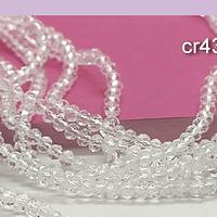 Cristal facetado transparente de 3 mm x 2 mm, tira de 148 cristales aprox.