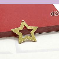 Dije estrella baño de oro, 22 mm, por unidad