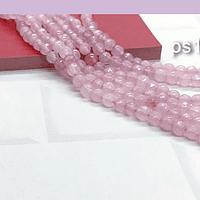agatas en tonos lila claro en 4 mm, tira de 85 piedras aprox