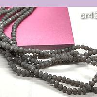Cristal facetado gris de 3 mm x 2 mm, tira de 148 cristales aprox
