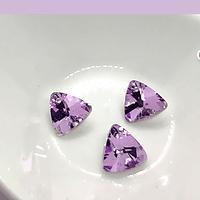 Set de cristales triangulares con agujero para colgar, color rosa tornasol, 12 x 12 mm, set de 3 unidades