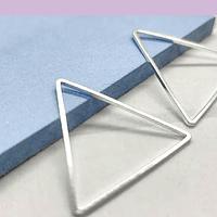 Triángulo baño de plata, 26 x 26 mm, por par