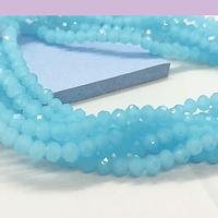 Cristal color celeste 4 mm, tira de 140 cristales aprox