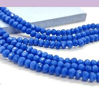 Cristal color azul  3 mm, tira de 148 cristales aprox
