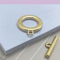Broche timón baño de oro, 20 mm, por unidad