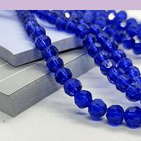 Cristal redondo de 6 mm, color azul, tira de 50 cristales aprox.