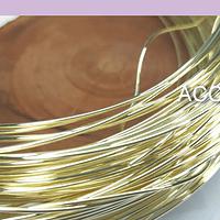Alambre baño de oro 1 mm, por metro