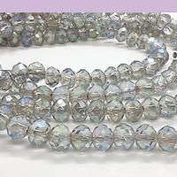 Cristal facetado gris tornasol de 6 mm, tira de 94 cristales aprox