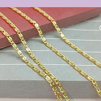 Collar baño de oro, 49 cm de largo, por unidad