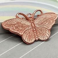 Colgante mariposa baño de cobre, 36 x 21 mm, por unidad