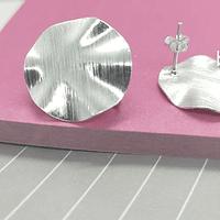 Base de aro baño de plata, 21 mm, por par