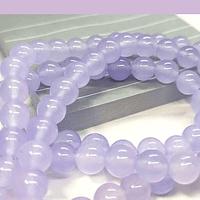 Jade calcedonia color lila de 8 mm, tira de 47 piedras