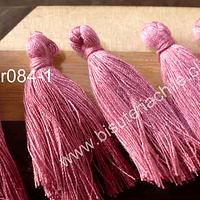 Borla  color palo de rosa, 45mm de largo, set de 5 unidades