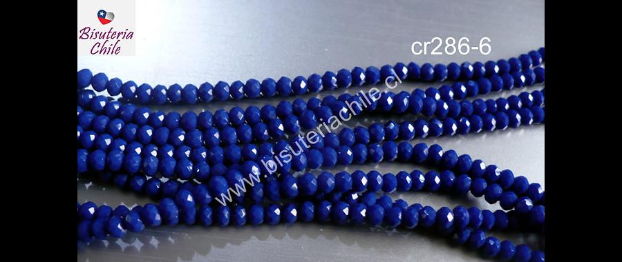 Cristal facetado azul rey de 3 mm x 2 mm, tira de 148 cristales aprox.