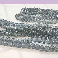 Cristal color gris tornasol 4 mm, tira de 140 cristales aprox