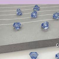 Cristal Austriaco, en forma de diamante, 6 mm, color celeste, set de 10 unidades