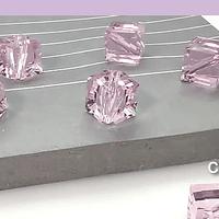 Cristal austriaco de 7 x 7 mm, agujero inclinado, set de 6 unidades