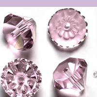 Cristal Austriaco, en forma de diamante, 6 mm, color rosado, set de 10 unidades