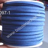 Gamuza 3 mm beige azul rey de 30 metros