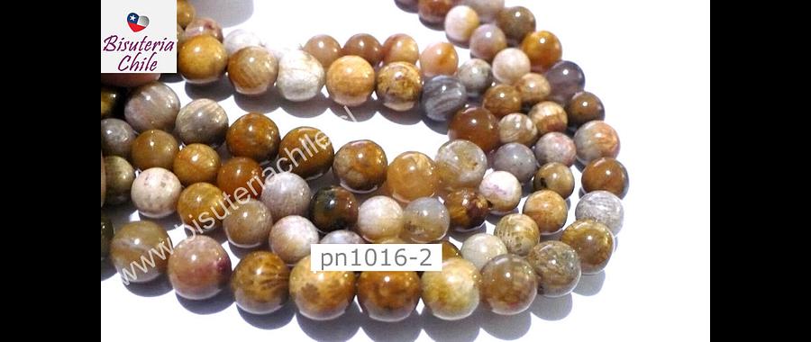 Agatas, Agata crazy 8 mm, tira de 46 piedras aprox