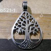 Colgante con árbol de la vida, 34 mm de largo (incluye colgante) x 21 mm de ancho, por unidad