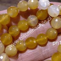 Agata de 10 mm en tono amarillo, tira de 38 piedras aprox