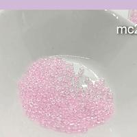 Mostacilla calibrada, rosado cristal, 11/0, 20 grs.