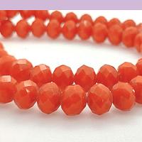 Cristal 10 x 8 mm, tonos naranjo, set de 20 unidades