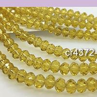 Cristal amarillo de 6 mm, tira de 92 unidades aprox.