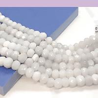 Agatas, Agata RONDELL color blanco de 4 mm, tira de 125 piedras aprox