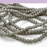 Cristal facetado de 2 mm, color gris, tira de 190 cristales aprox.