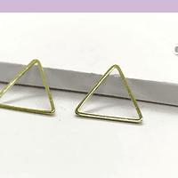Triángulo baño de oro, 15 x 15 mm, por par