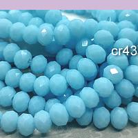 Cristal celeste de 6 mm, tira de 92 unidades aprox.